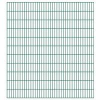 vidaXL 2D Gartenzaun-Elemente 2,008x2,23 m Gesamtlänge 20 m Grün
