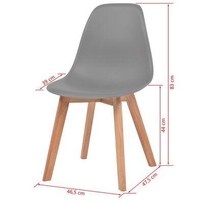 vidaXL Esszimmerstühle 4 Stk. Grau Kunststoff