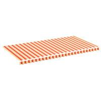 vidaXL Markisenbespannung Gelb und Orange 6x3 m