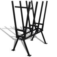 Sägebock für Holzsägearbeiten schwarz