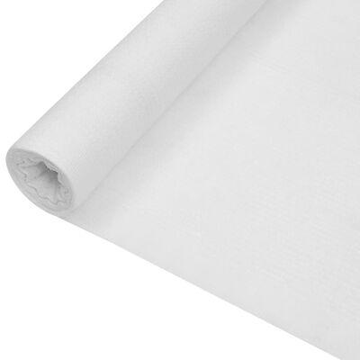 vidaXL Zaunblende Weiß 1,2x25 m HDPE 150 g/m²