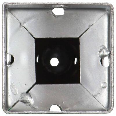 vidaXL Erdspieße 2 Stk. Silbern 10×10×57 cm Verzinkter Stahl,
