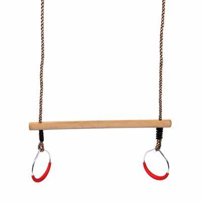 Swing King Trapez mit Ringen 58 cm Holz Beige 2521076,
