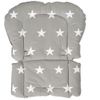 roba Gepolsterter Sitzverkleinerer Little Stars Grau 50×65×3,5 cm