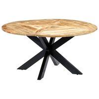vidaXL Esstisch Rund 150×76 cm Mango Massivholz
