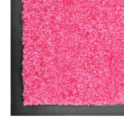 vidaXL Fußmatte Waschbar Rosa 60x90 cm
