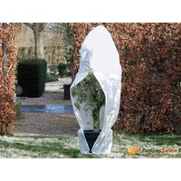 Nature Wintervlies mit Reißverschluss 70 g/m² Weiß 2,5×2×2 m