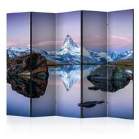 5-teiliges Paravent - Lonely Mountain II  - 225x172 cm