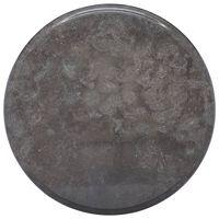 vidaXL Tischplatte Schwarz Ø40x2,5 cm Marmor