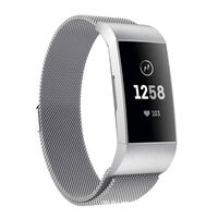 Fitbit Charge 3/4 Armband Milanaise Silber (s)