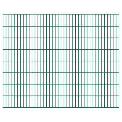 vidaXL 2D Gartenzaun-Elemente 2,008x1,63 m Gesamtlänge 20 m Grün ,