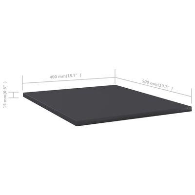 vidaXL Bücherregal-Bretter 4 Stk. Grau 40x50x1,5 cm Spanplatte