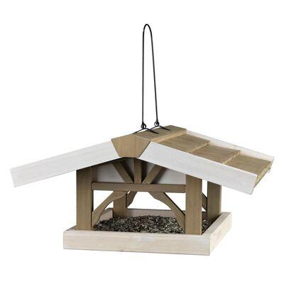TRIXIE Futterhaus mit Ständer Natura 46x22x44 cm Braun und Weiß 55801