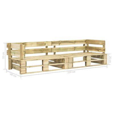 vidaXL Garten-Palettensofa 2-Sitzer Holz
