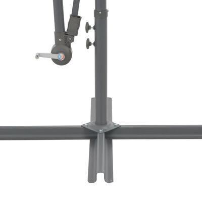vidaXL Ampelschirm mit Alu-Mast 350 cm Taupe, Taupe