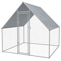 vidaXL Outdoor-Hühnerkäfig 2x2x1,92 m Verzinkter Stahl