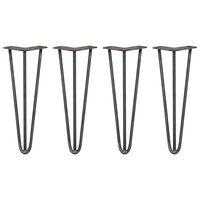 SKISKI Legs 4 x 3 Streben Hairpin-Legs Tischbeine  35.5cm L
