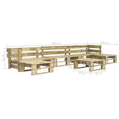 vidaXL 6-tlg. Garten-Sofagarnitur aus Paletten Holz