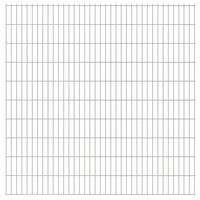 vidaXL 2D Gartenzaun-Elemente 2,008x2,03 m Gesamtlänge 12 m Silbern
