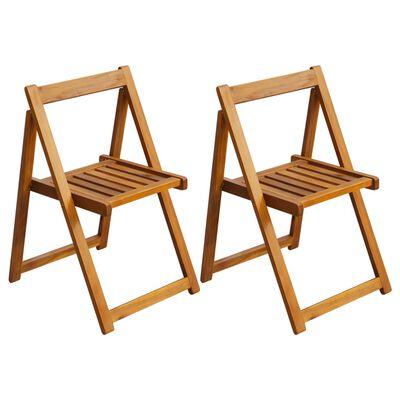 vidaXL Klappbare Gartenstühle 2 Stk. Massivholz Akazie