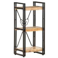 vidaXL Bücherregal 3 Fächer 40x30x80 cm Mango Massivholz