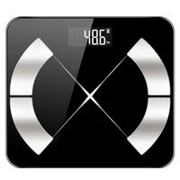 Digitale Personenwaage Mit Bmi-messung Und App - Schwarz