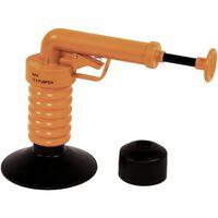 Drain Buster Handliche Abfluss Saugglocke Orange und Schwarz