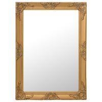 vidaXL Wandspiegel im Barock-Stil 60 x 80 cm Golden