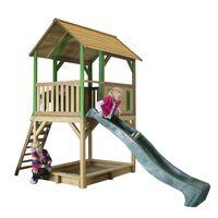 AXI Spielhaus mit Leiter Rutsche Sandkasten Pumba Holz A030.215.00