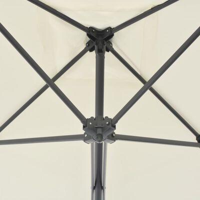 vidaXL Sonnenschirm mit Stahlmast 250×250 cm Sand