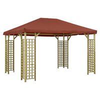 vidaXL Pavillon 4 x 3 m Terrakotta-Rot