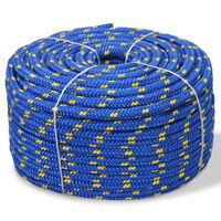 vidaXL Bootsseil Polypropylen 14 mm 50 m Blau
