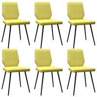 vidaXL Esszimmerstühle 6 Stk. Limonengelb Stoff