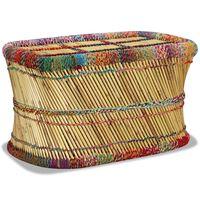 vidaXL Couchtisch Bambus mit Chindi-Details Mehrfarbig