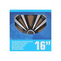Radblenden-set Terra Silber/schwarz 16 Zoll 4 Stück Im Displaykarton
