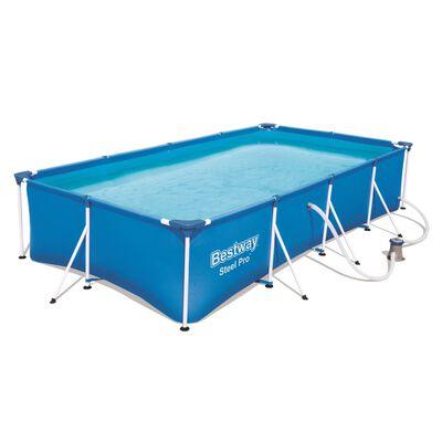 Bestway Steel Pro Swimmingpool-Set Rechteckig 400×211×81 cm 56424,