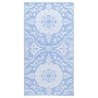 vidaXL Outdoor-Teppich Babyblau 80x150 cm PP