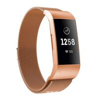 Fitbit Charge 3/4 Armband Milanaise Roségold (s)