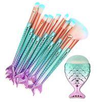 Make-up Pinsel Set 11 Stück 3d Meerjungfrau Makeup Brushes