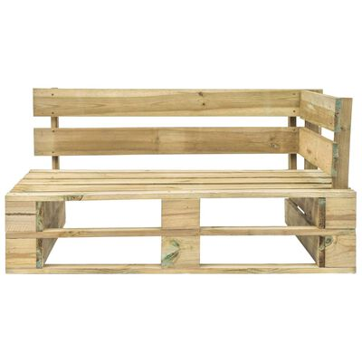 vidaXL Garten-Paletten-Eckbank Holz