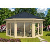 Alpholz Gartenpavillon Modell Rügen mit vier Fenstern
