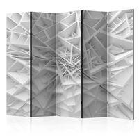 5-teiliges Paravent - White Spider's Web II  - 225x172 cm
