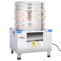 vidaXL Geflügelrupfmaschine für Huhn Edelstahl 123 Finger 1500 W
