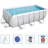 Bestway Power Steel Swimmingpool-Set Rechteckig 412x201x122 cm