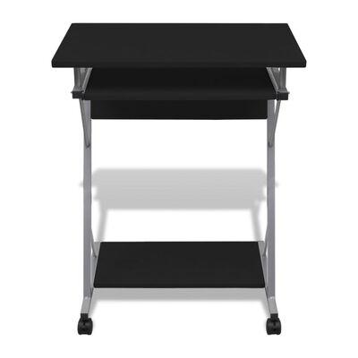 Computertisch Computerwagen PC Tisch Bürotisch Laptop Rollen schwarz, Black