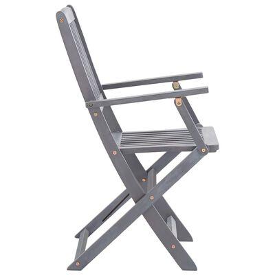 vidaXL Klappbare Gartenstühle 6 Stk. mit Sitzkissen Massivholz Akazie