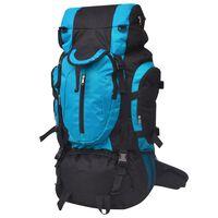vidaXL Wanderrucksack XXL 75 L schwarz und blau