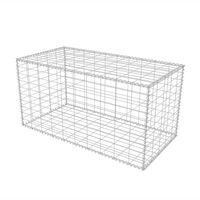 vidaXL Gabionenkorb Stahl 100×50×50 cm