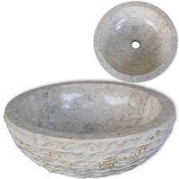 vidaXL Waschbecken Marmor 40 cm Creme