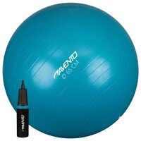 Avento Fitness-/Gymnastikball + Pumpe Durchm. 65 cm Blau